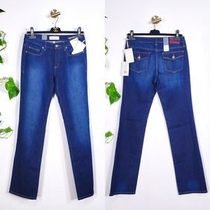 $148 NWT HENRY & BELLE Straight Cut Blue Jeans 27